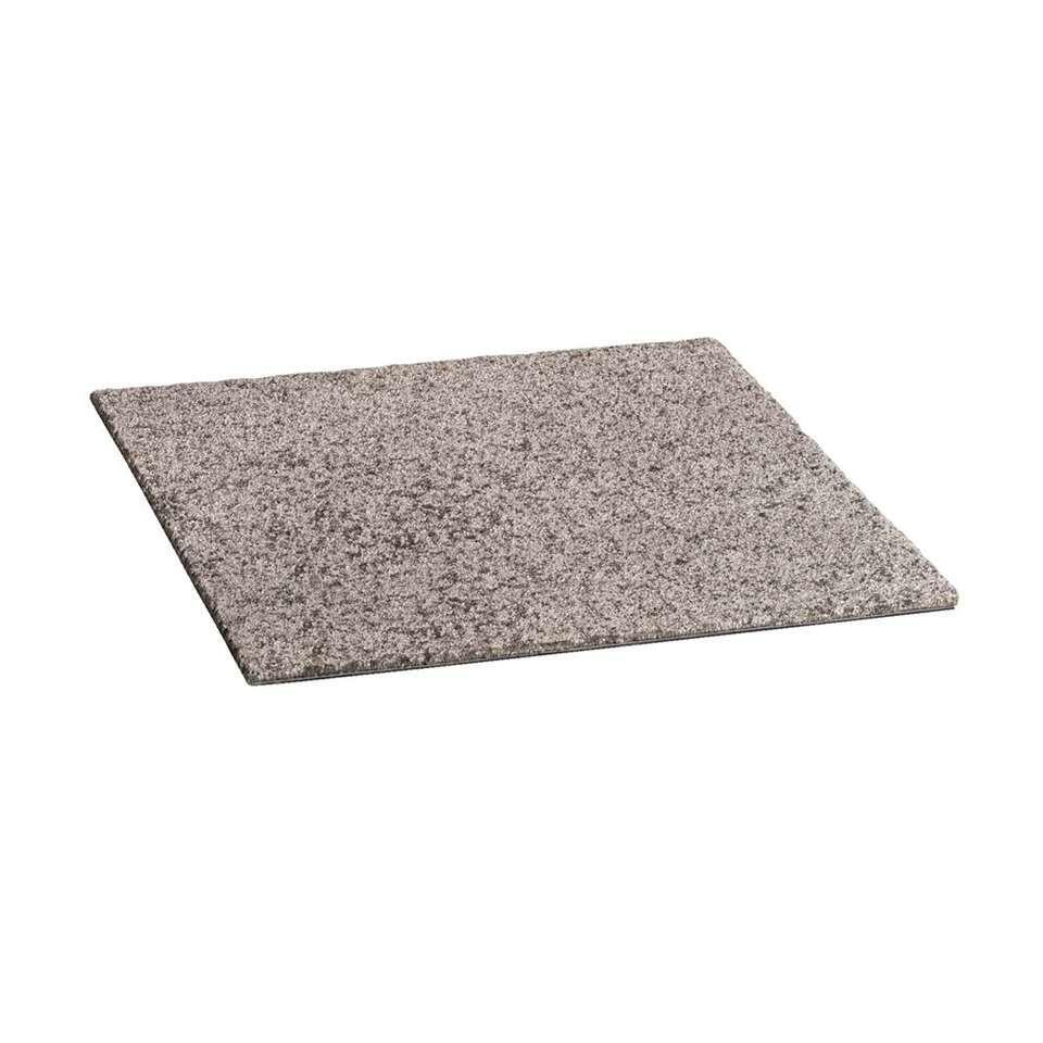 Tapijttegel Cosmos is een tegel in de kleur middengrijs. Cosmos heeft een afmeting van 50x50 cm en is gemaakt van 100% polypropyleen. De tegels worden per stuk verkocht.