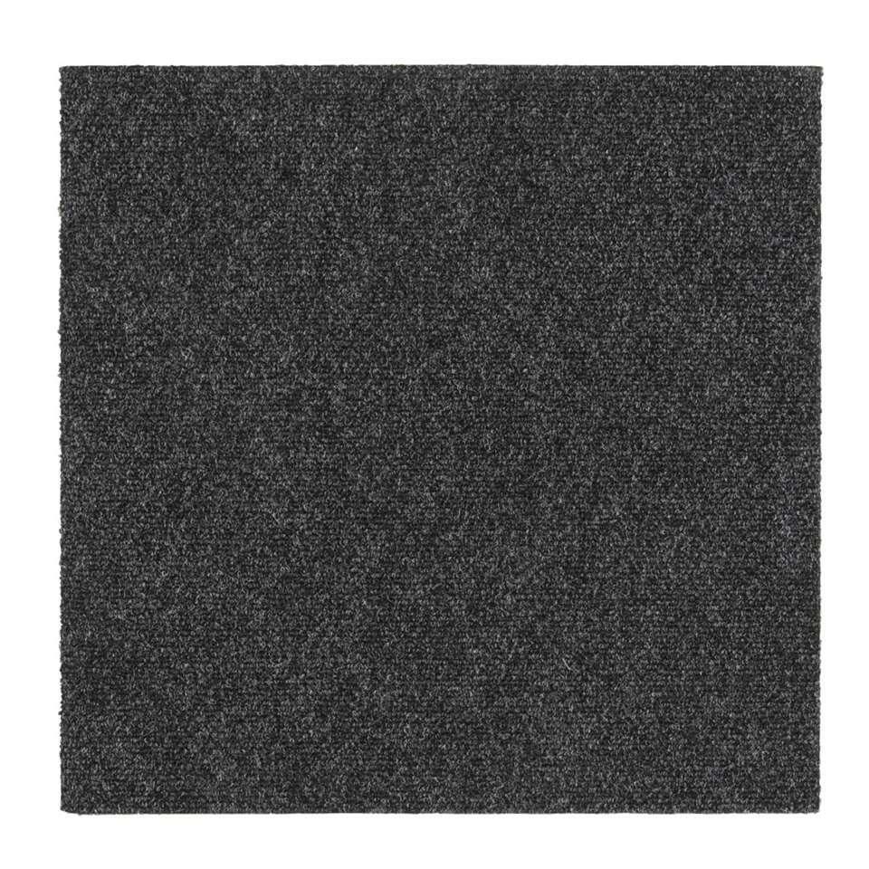 Tegel Andes is een tapijttegel in de kleur antraciet. Deze grijze tegel heeft een afmeting van 50x50 cm, ook verkrijgbaar in het blauw en beige. De tapijttegel wordt per stuk verkocht.