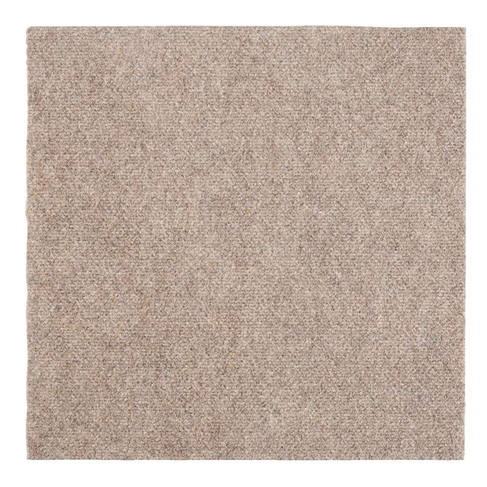 Tegel Andes is een tapijttegel in de kleur beige. Deze tegel heeft een afmeting van 50x50 cm, ook verkrijgbaar in het blauw en antraciet. De tapijttegel wordt per stuk verkocht.