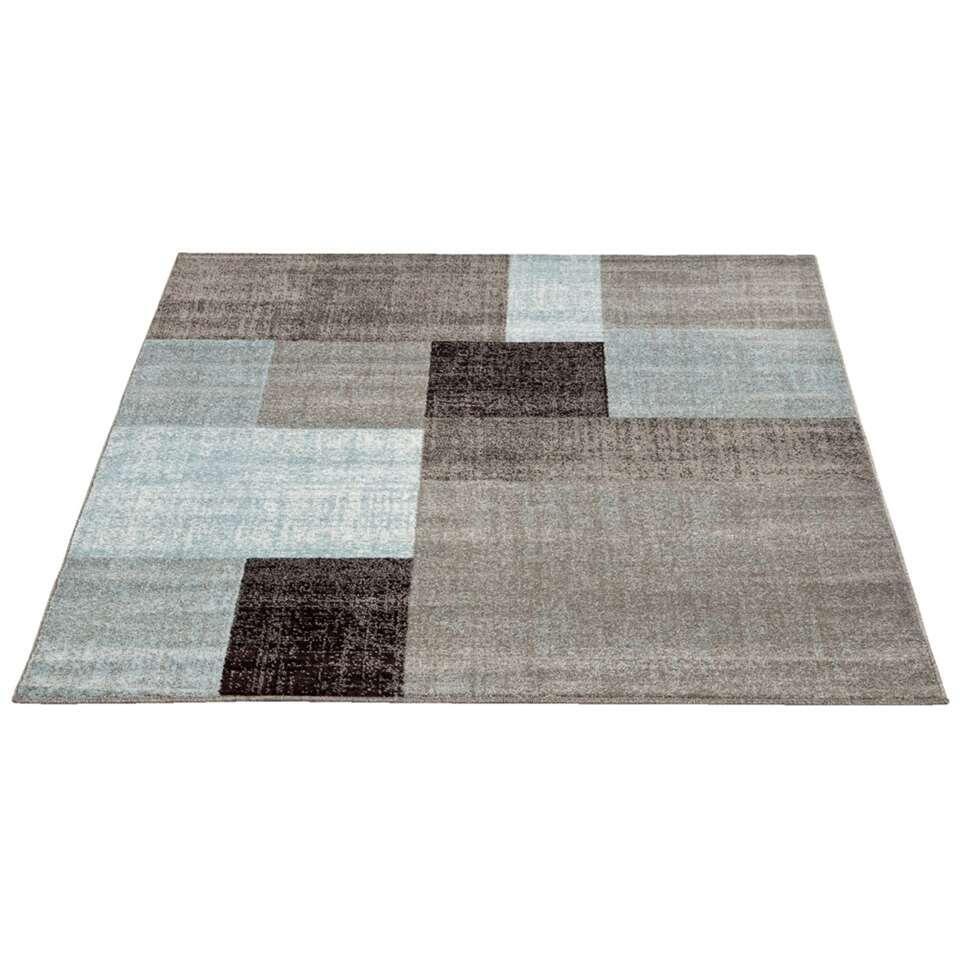Vloerkleed Casa blok - grijs - 160x230 cm