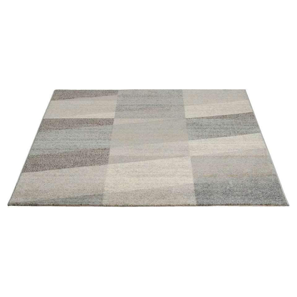 Vloerkleed Casa Diagonaal - grijs - 160x230 cm