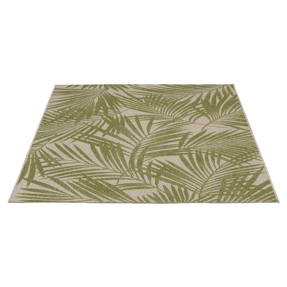 Binnen/buitenvloerkleed Kerala - groen/naturel - 120x170 cm