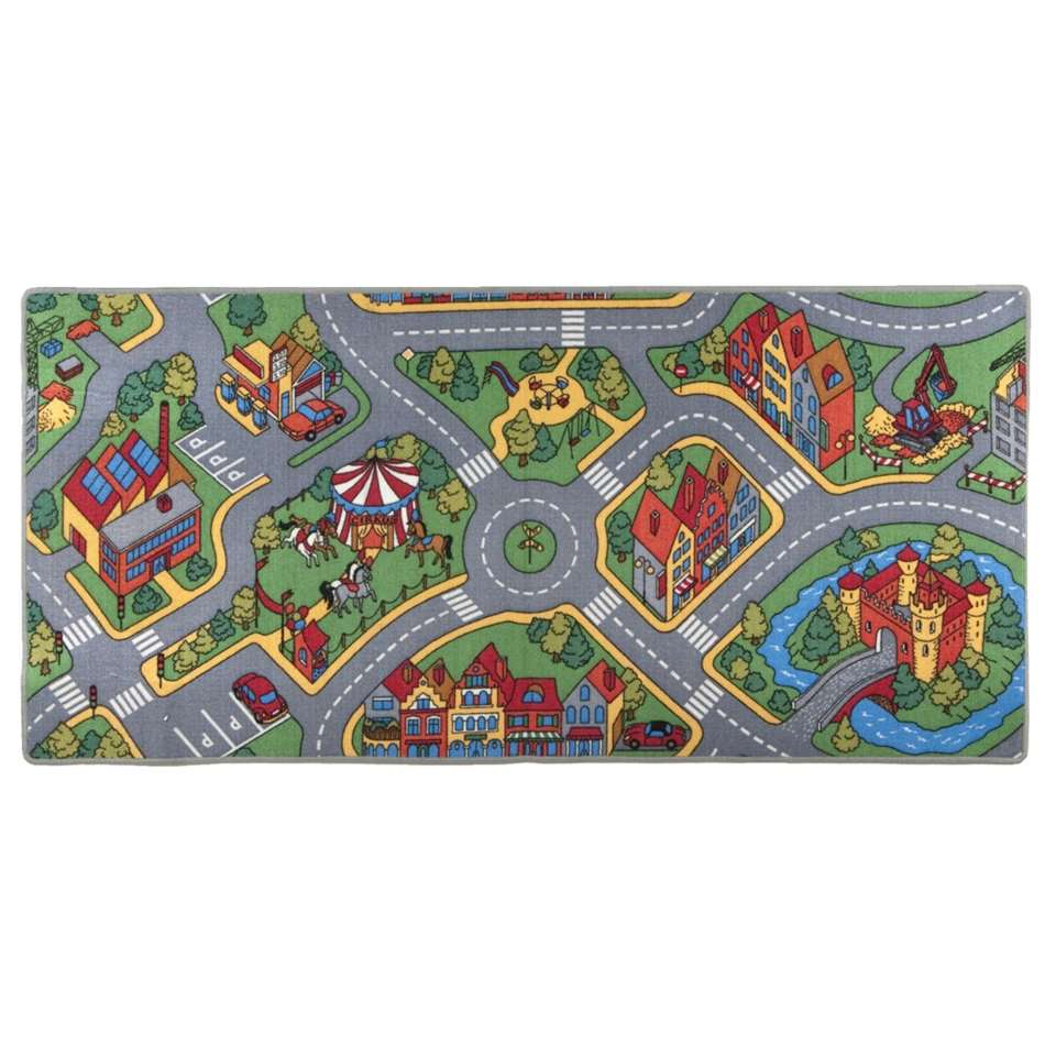 Speelkleed Ralley - multikleur - 95x200 cm - Leen Bakker