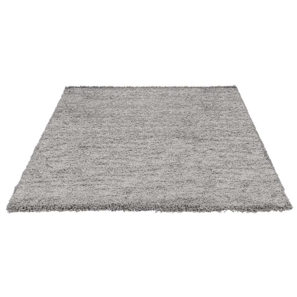 Vloerkleed Domino - grijs - 160x230 cm - Leen Bakker