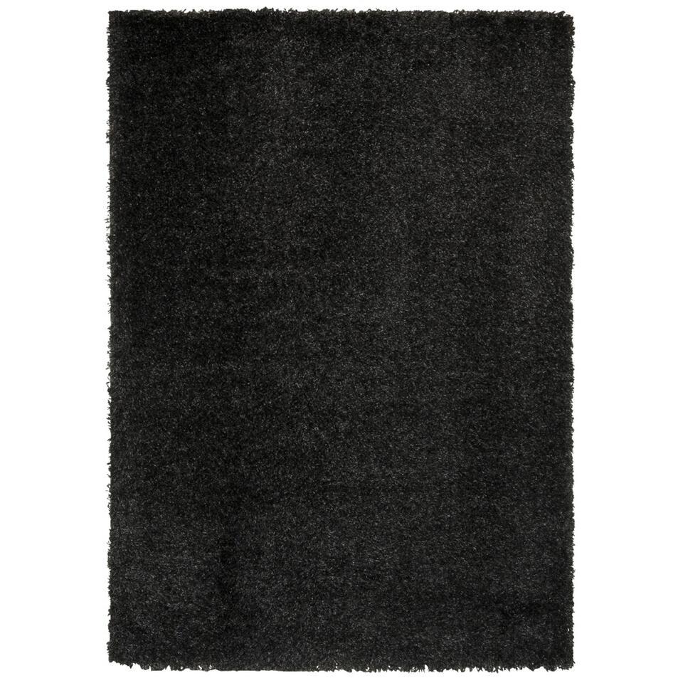 Vloerkleed Domino - antraciet - 160x230 cm - Leen Bakker