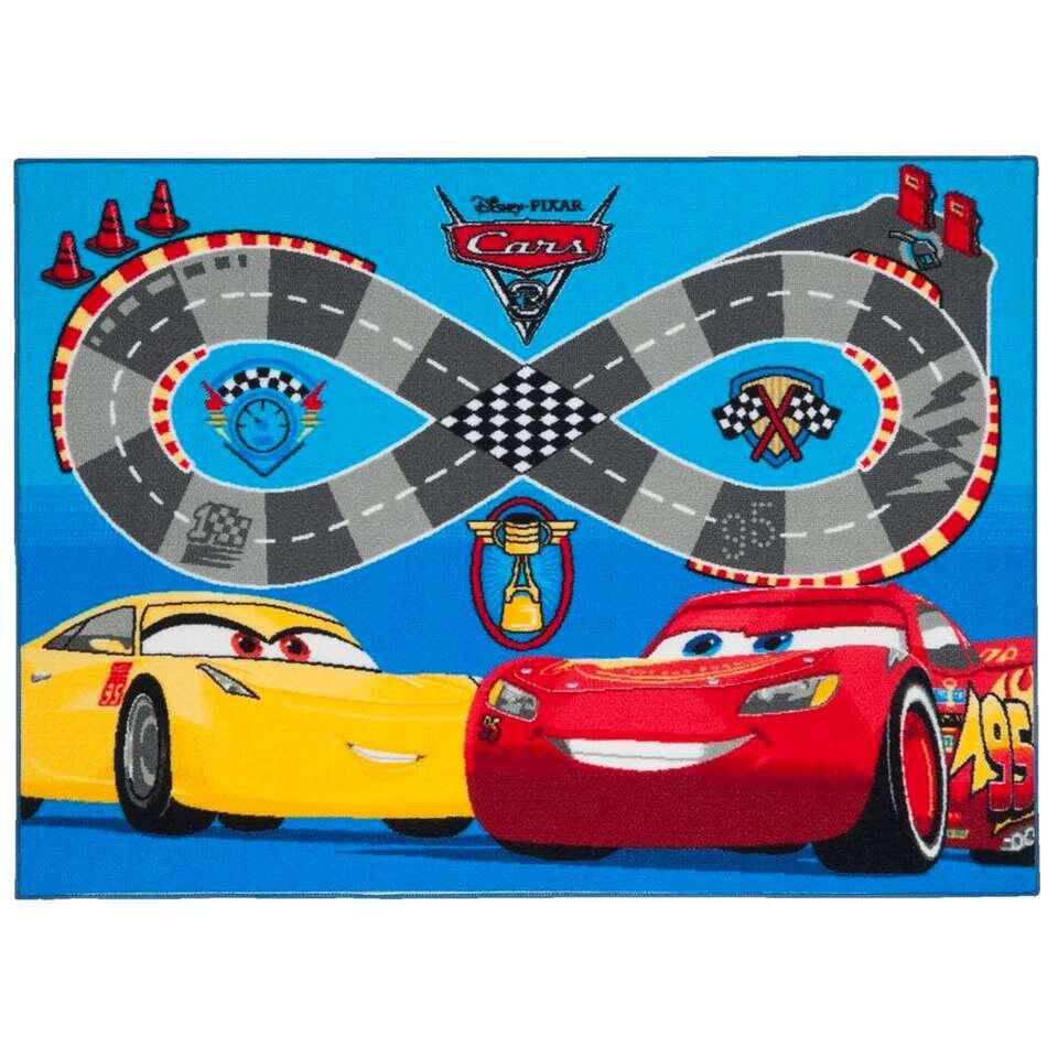 Disney Cars Vloerkleed speedway - multikleur - 95x133 cm - Leen Bakker