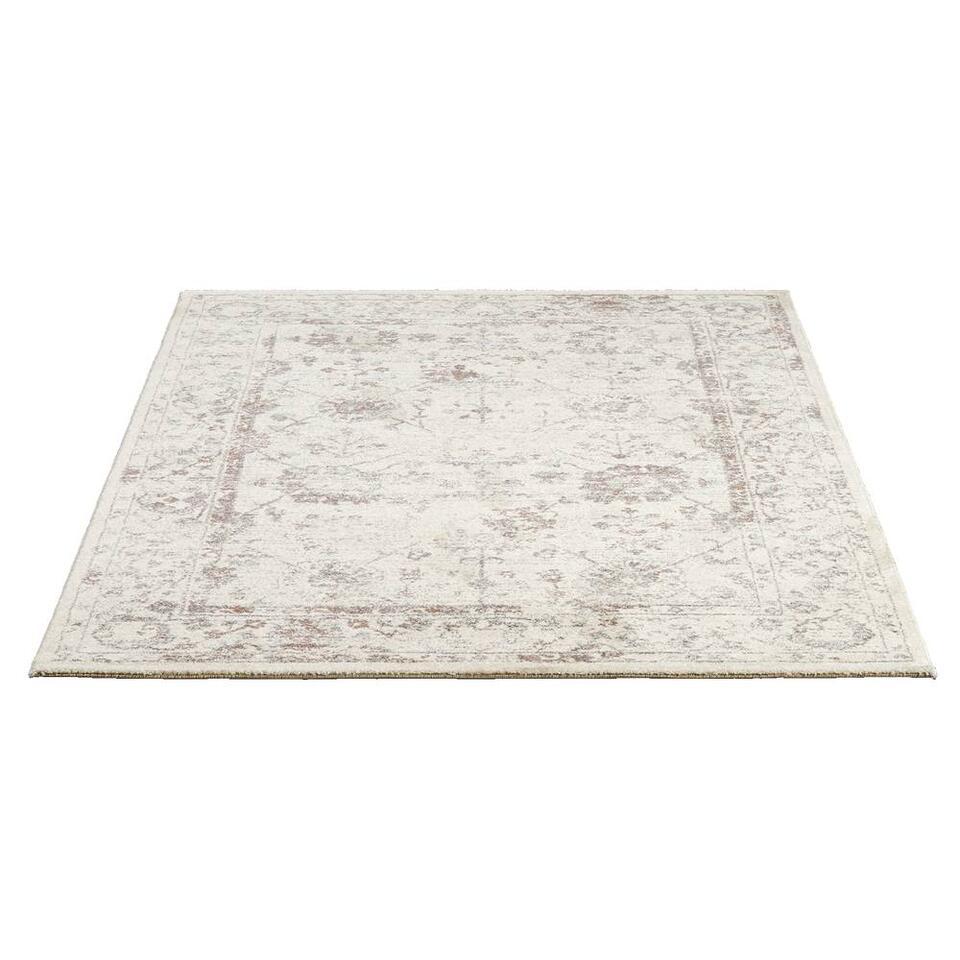 Vloerkleed Sevilla - wit/oudroze - 160x230 cm