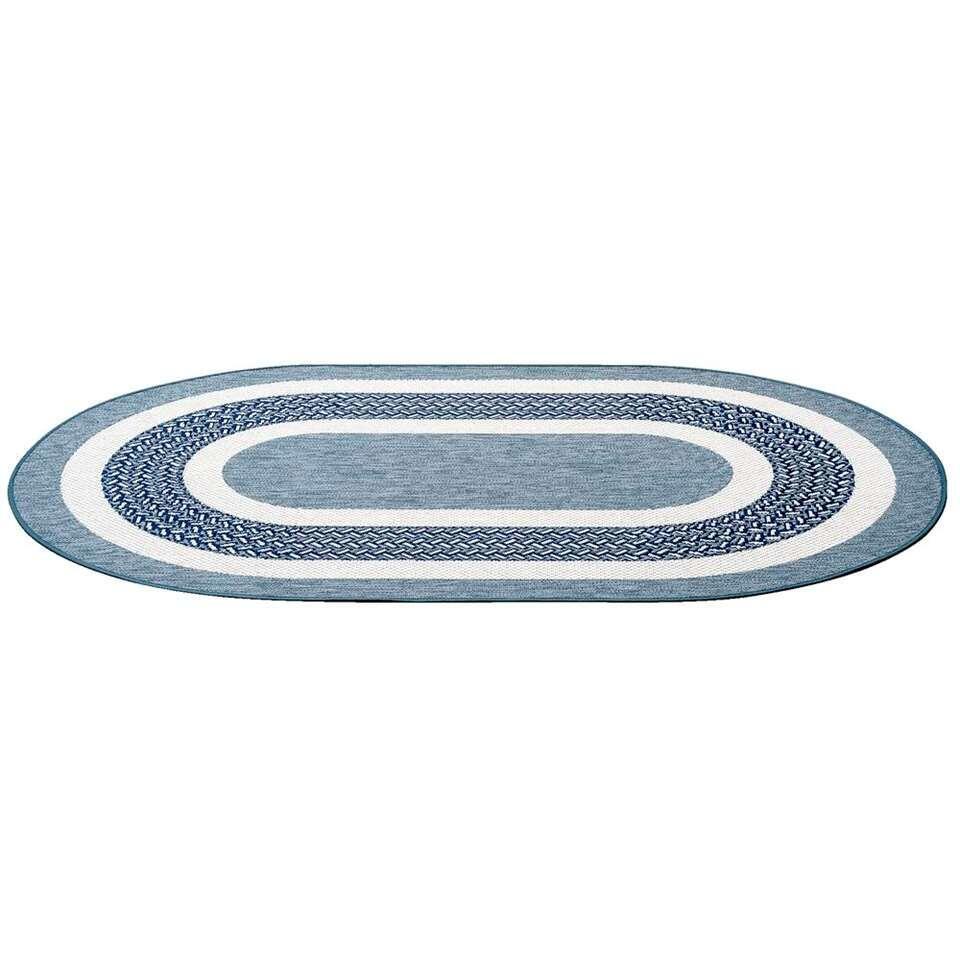 Vloerkleed Star - blauw - 120x180 cm