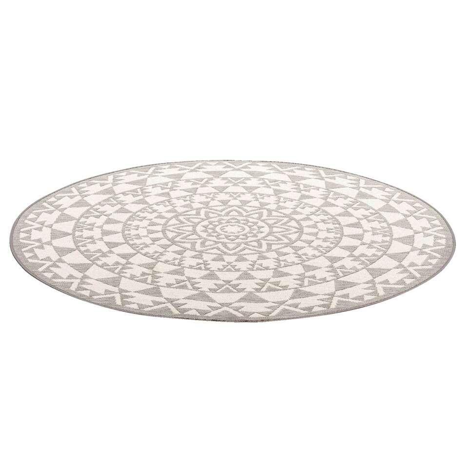Vloerkleed Essenza - grijs - Ø160 cm - Leen Bakker