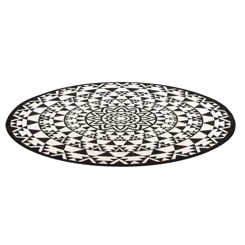 Vloerkleed Essenza – zwart – Ø160 cm – Leen Bakker kopen Vloeren? Dat doe je hier snel en voordelig – snel in huis bezorgd