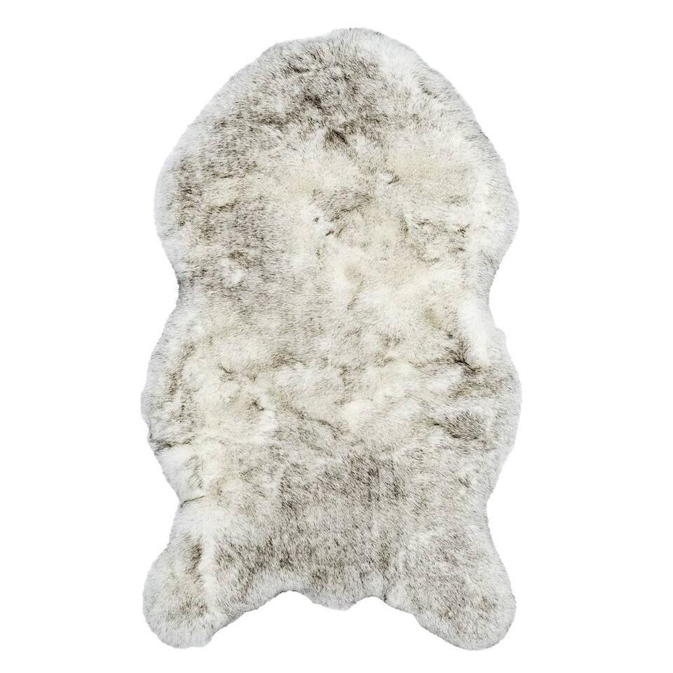 Vloerkleed Husky crème grijs 60x100 cm Leen Bakker