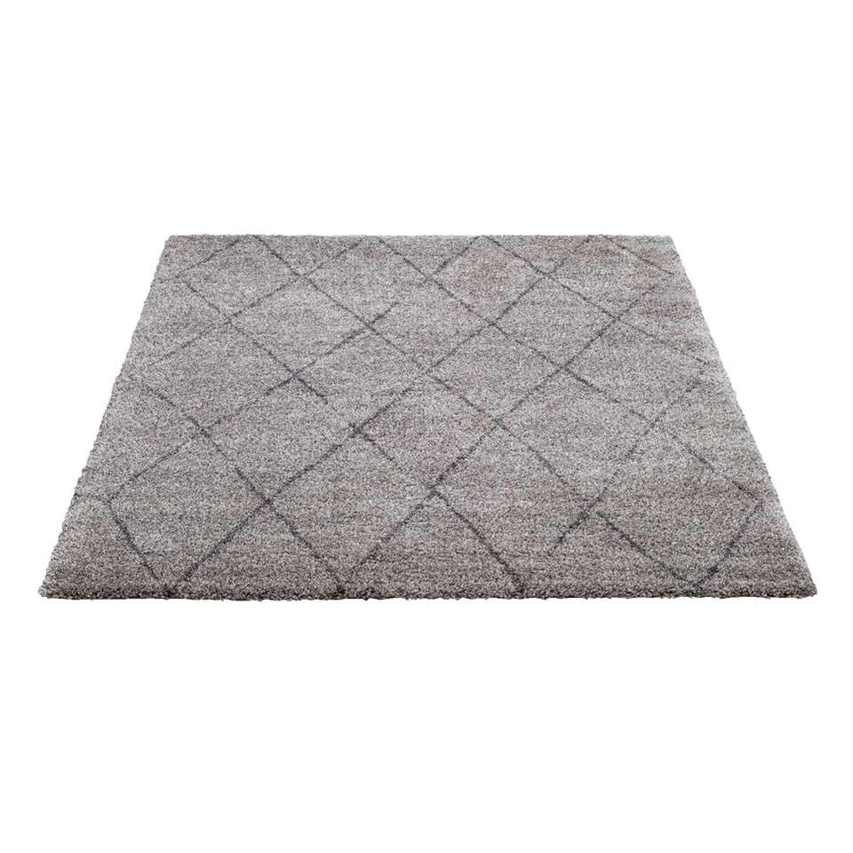 Vloerkleed Bohemian - lichtgrijs/donkergrijs - 160x230 cm - Leen Bakker