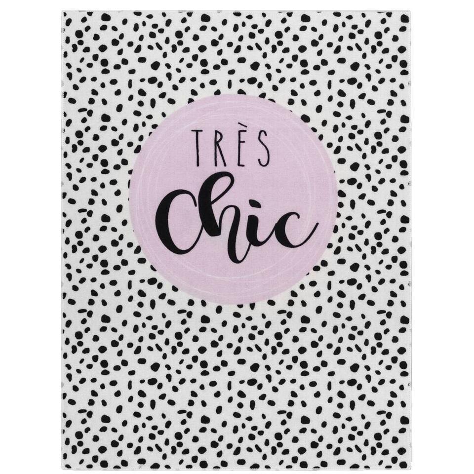 Vloerkleed Mood Très Chic - wit/zwart - 95x125 cm