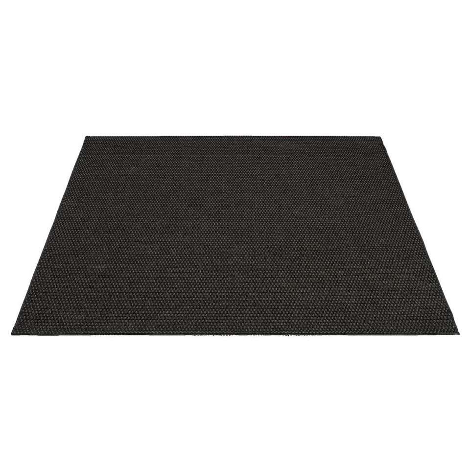 Vloerkleed Grace - zwart - 160x230 cm - Leen Bakker