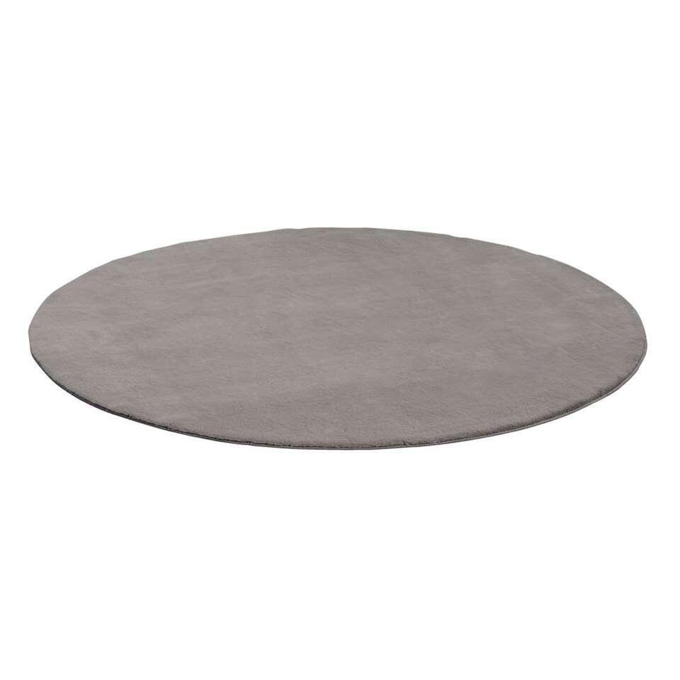 Vloerkleed Lilly – grijs – Ø160 cm – Leen Bakker