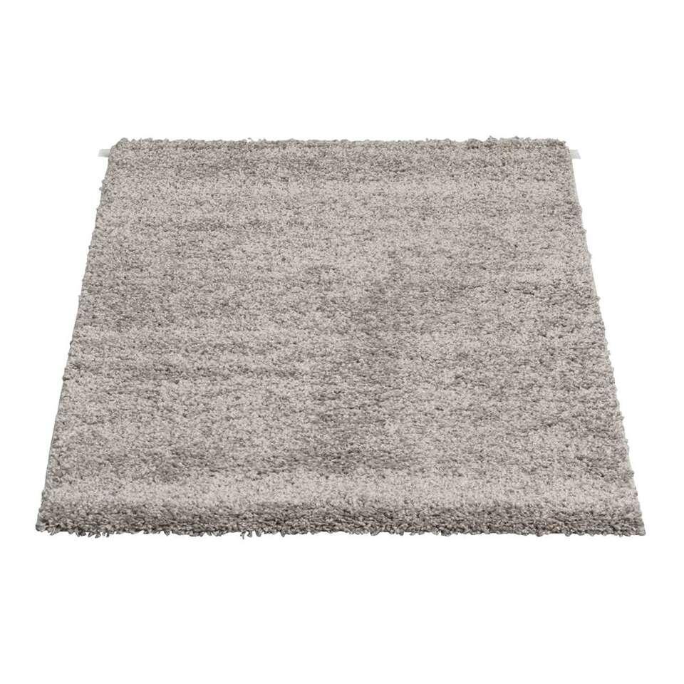 Vloerkleed Domino - grijs - 80x150 cm - Leen Bakker
