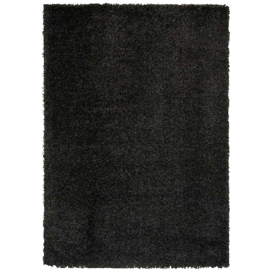 Vloerkleed Domino - antraciet - 80x150 cm