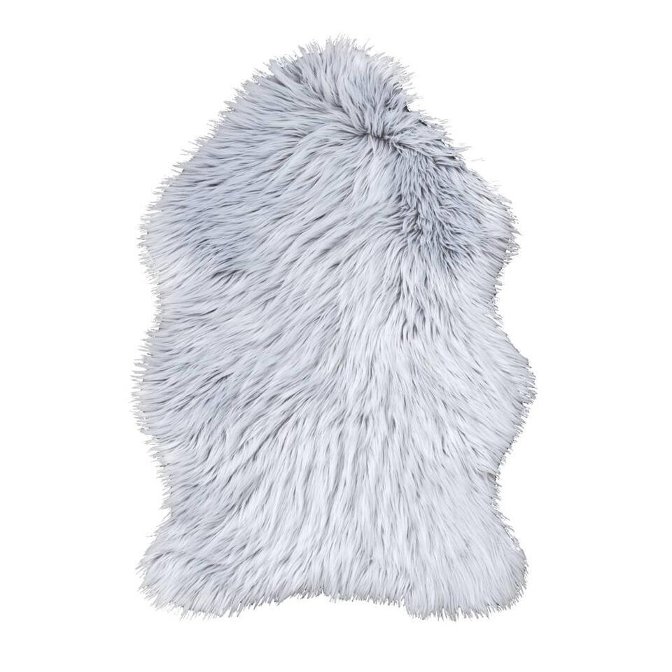 Vloerkleed Yeti - grijs - 60x90 cm - Leen Bakker
