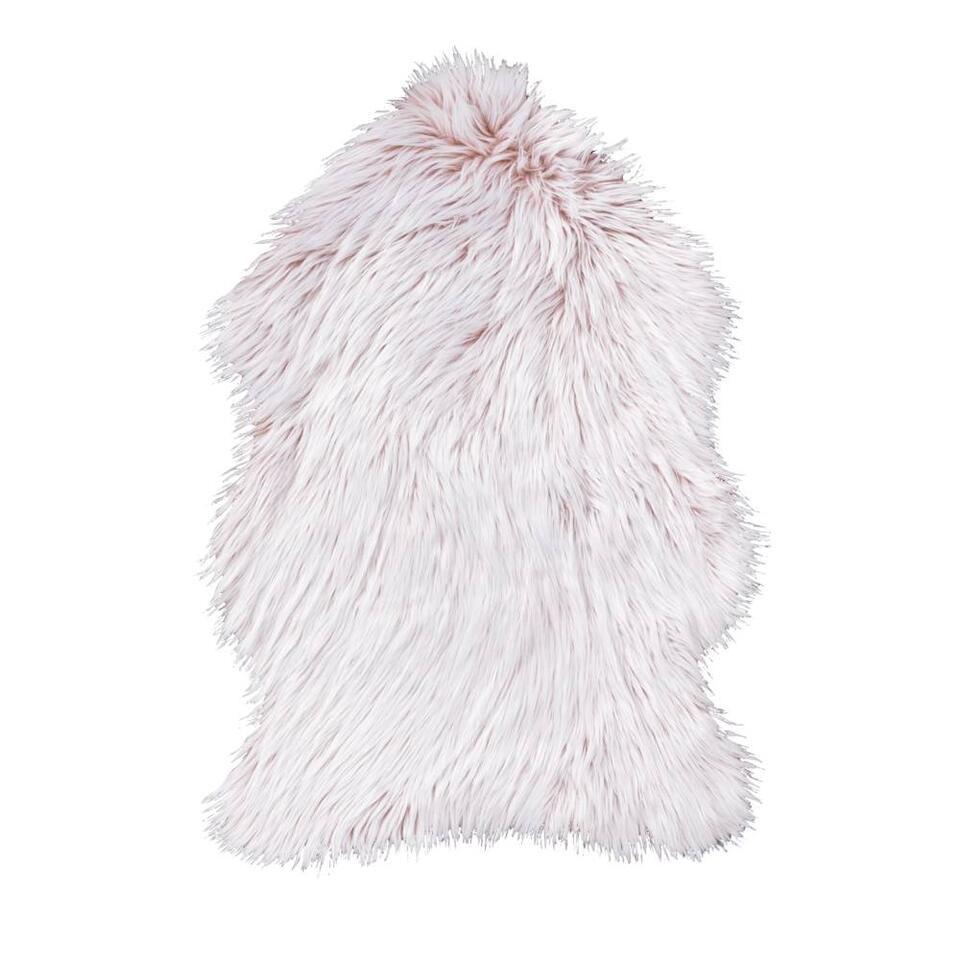 Vloerkleed Yeti - roze - 60x90 cm - Leen Bakker
