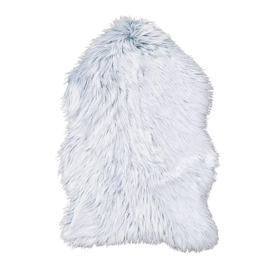 Vloerkleed Yeti - blauw - 60x90 cm