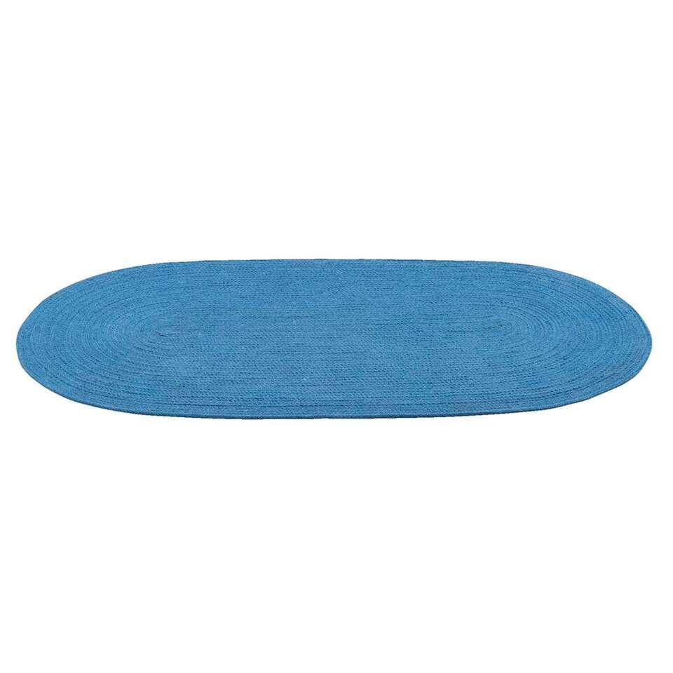 Vloerkleed Monaco - blauw - 70x140 cm