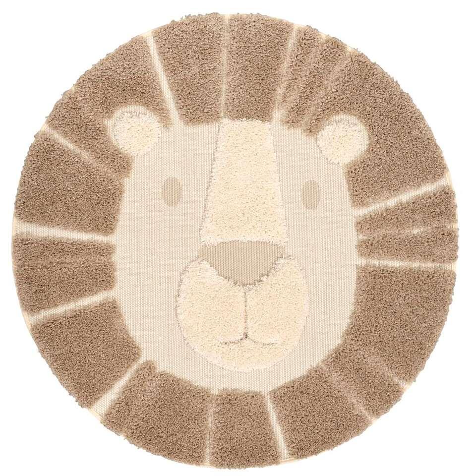 Vloerkleed Ritchie Leeuw - crème/beige - 120 cm