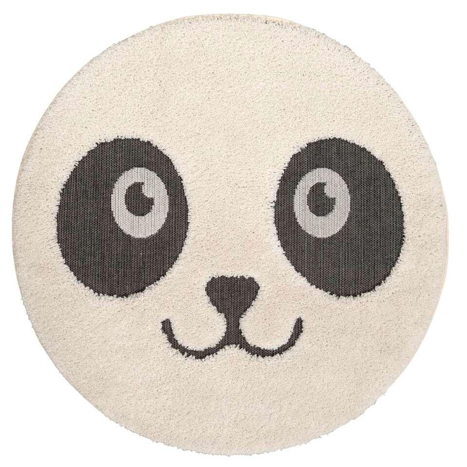 Vloerkleed Ritchie Panda - crème/zwart  - 120 cm