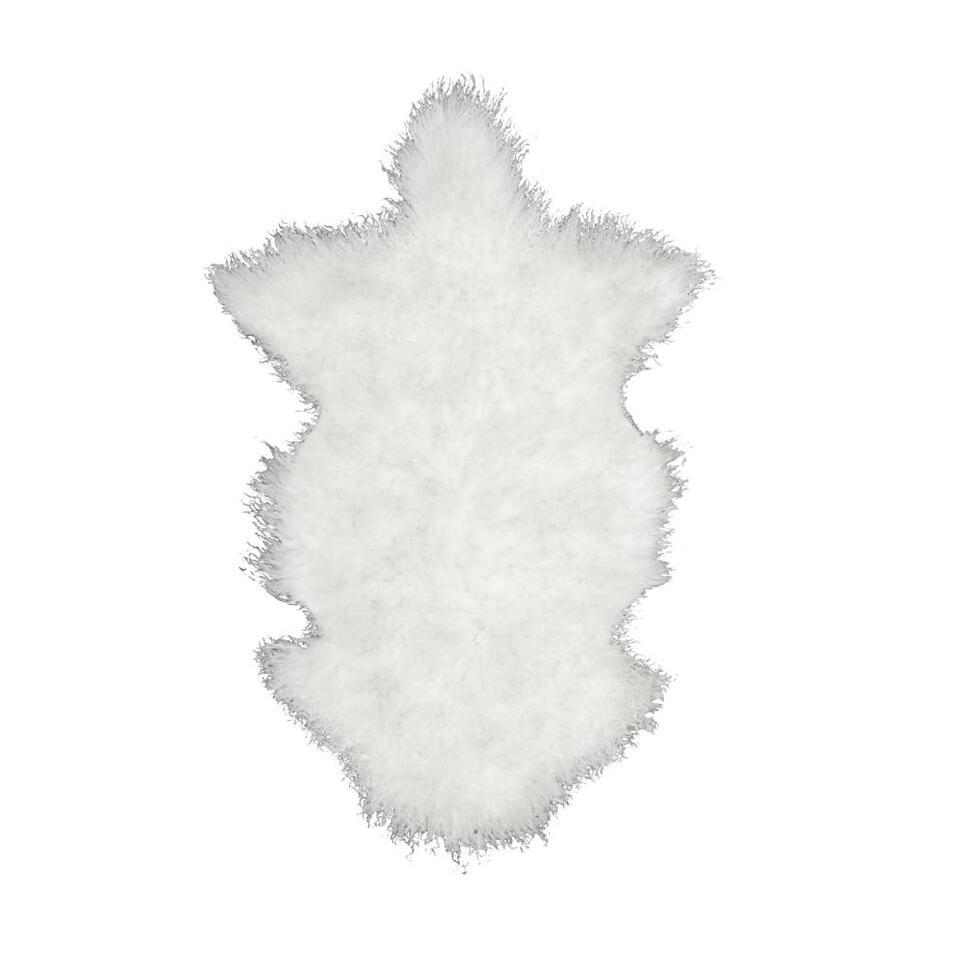 Vloerkleed Doodle Schapenvacht – wit – Leen Bakker