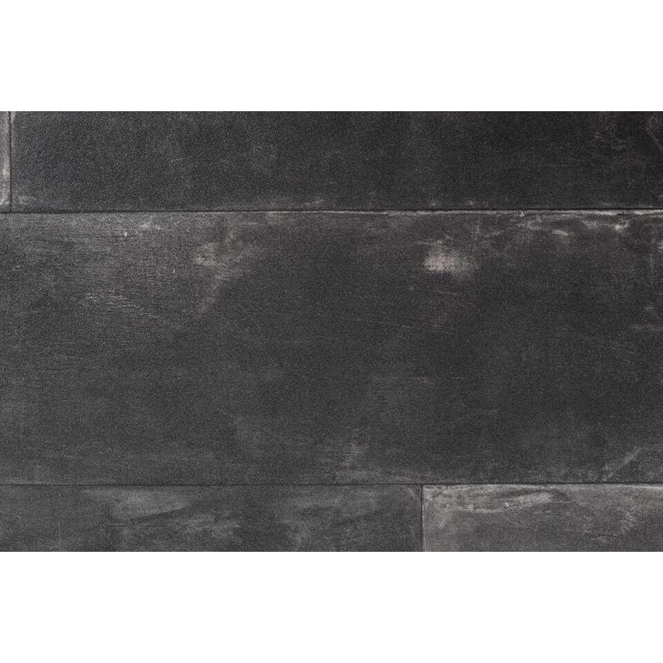 Vinyl Concrete - zwart - Leen Bakker