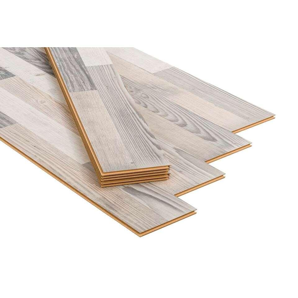 Laminaat Luxfloor Sidewalk Pine - grijs - Leen Bakker