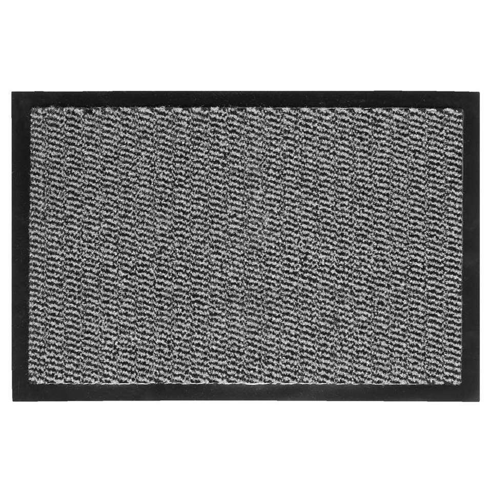 Mat Paris in de kleur antraciet is een zware schoonloopmat. Deze mat is gemaakt van 100% polypropyleen, heeft een antisliprug en een afmeting van 40x60 cm.
