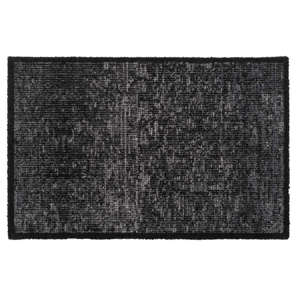Mat Velvet - antraciet - 50x75 cm
