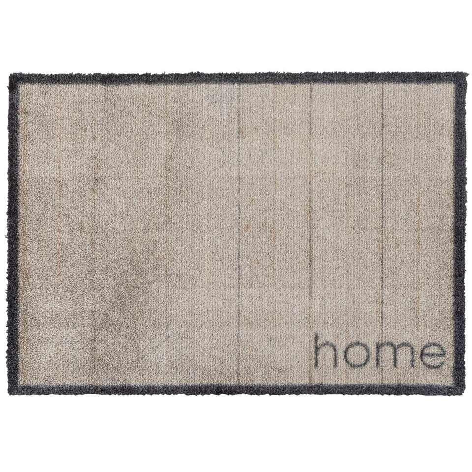 Mat Rustic Home – taupe – 50×70 cm – Leen Bakker