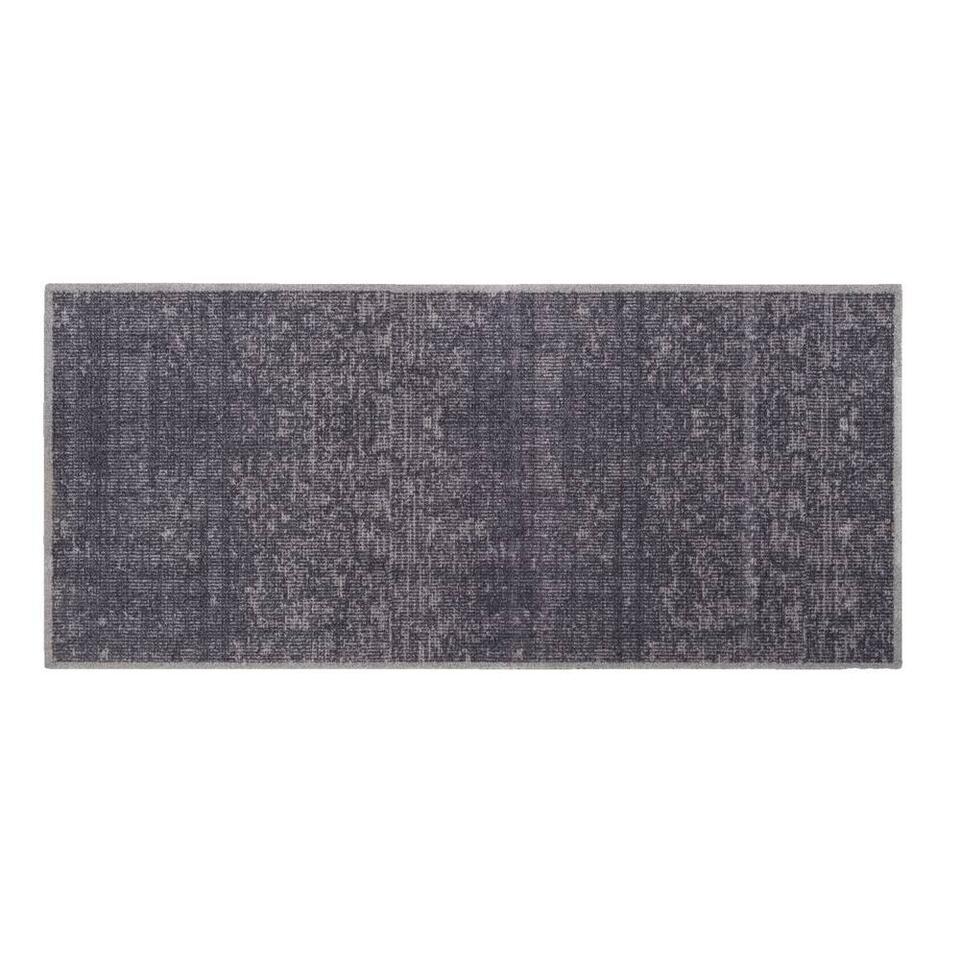 Mat Universal Velvet - antraciet - 67x150 cm - Leen Bakker