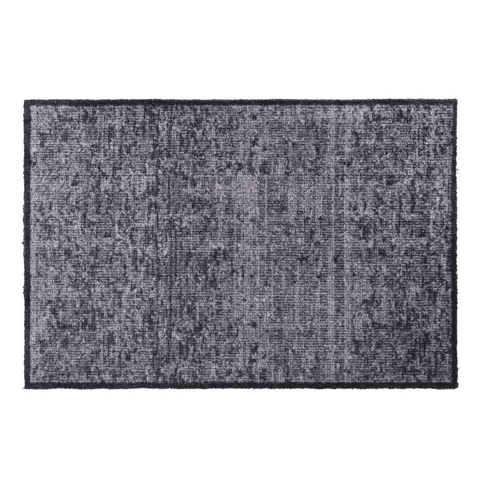 Mat Soft & Deco Velvet - antraciet - 67x100 cm
