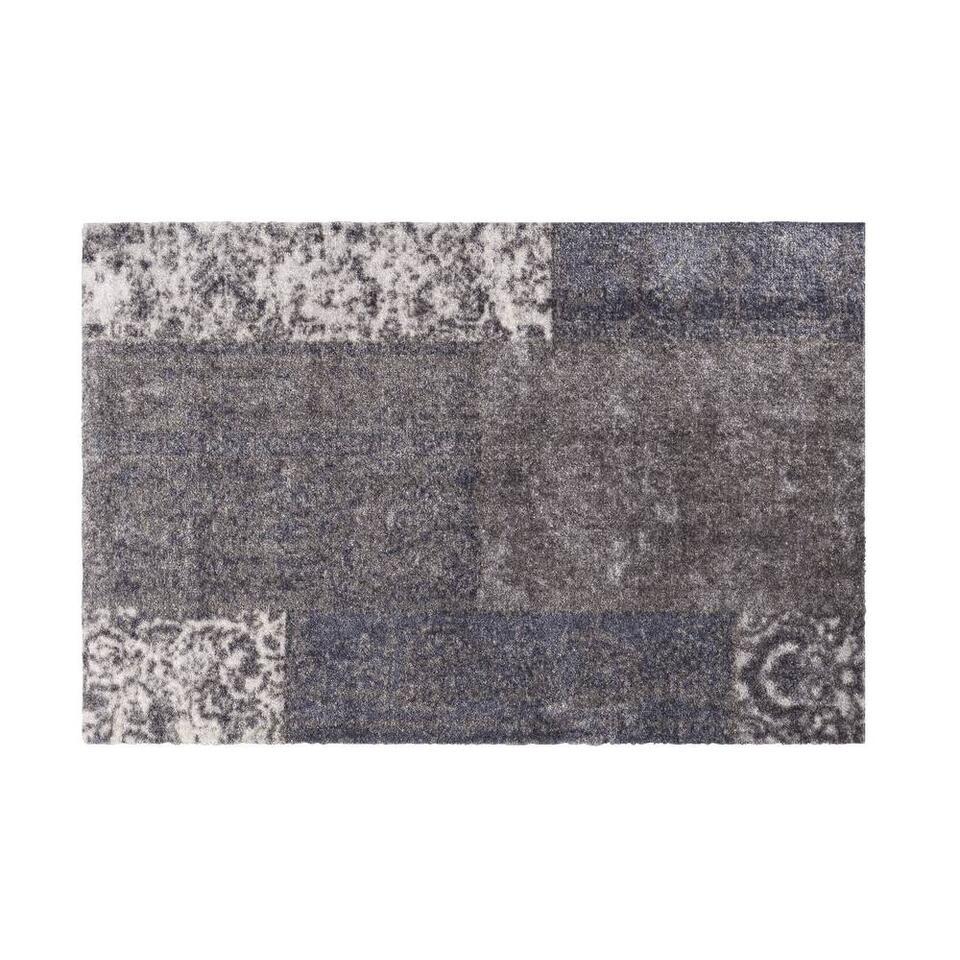 Mat Soft & Deco Patchwork - grijs - 67x100 cm