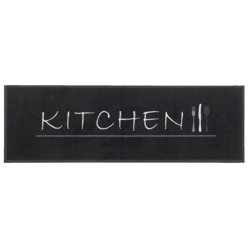 Een keukenloper of vloerkleed voor de keuken voorkomt vlekken en krassen op de keukenvloer. Tevens is keukenloper Kitchen wasbaar op 30c graden. Keukenlopen Kitchen heeft een zwarte kleur en een afmeting van 50x150 cm.