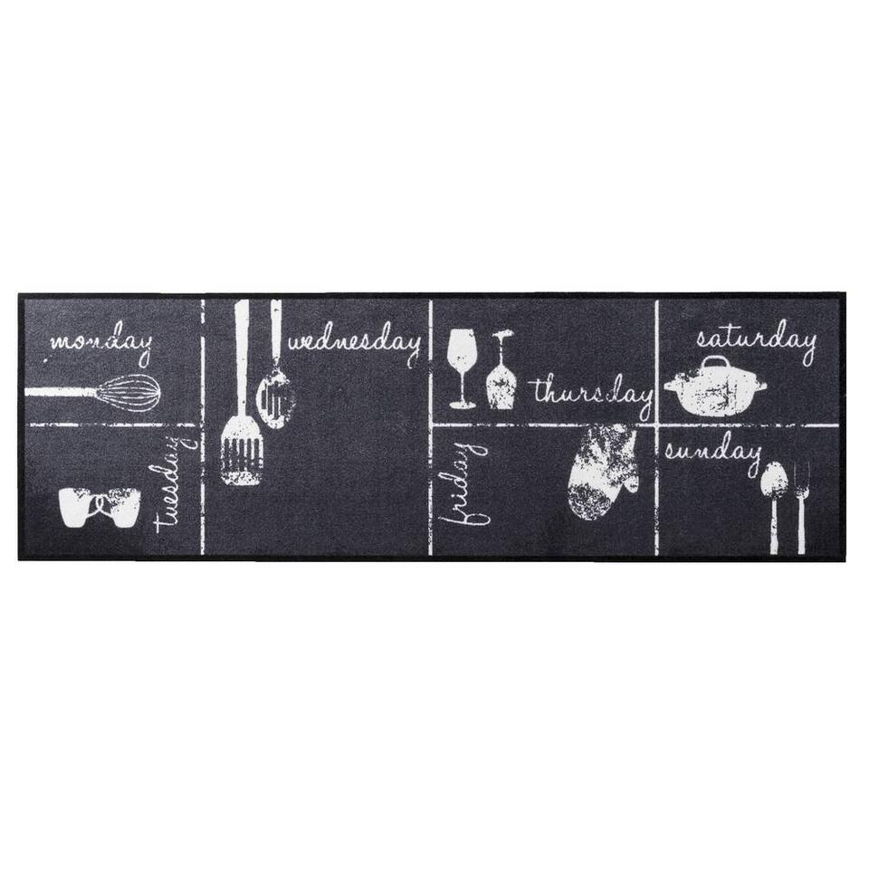 Keukenloper Weekkalender - 50x150 cm - Leen Bakker