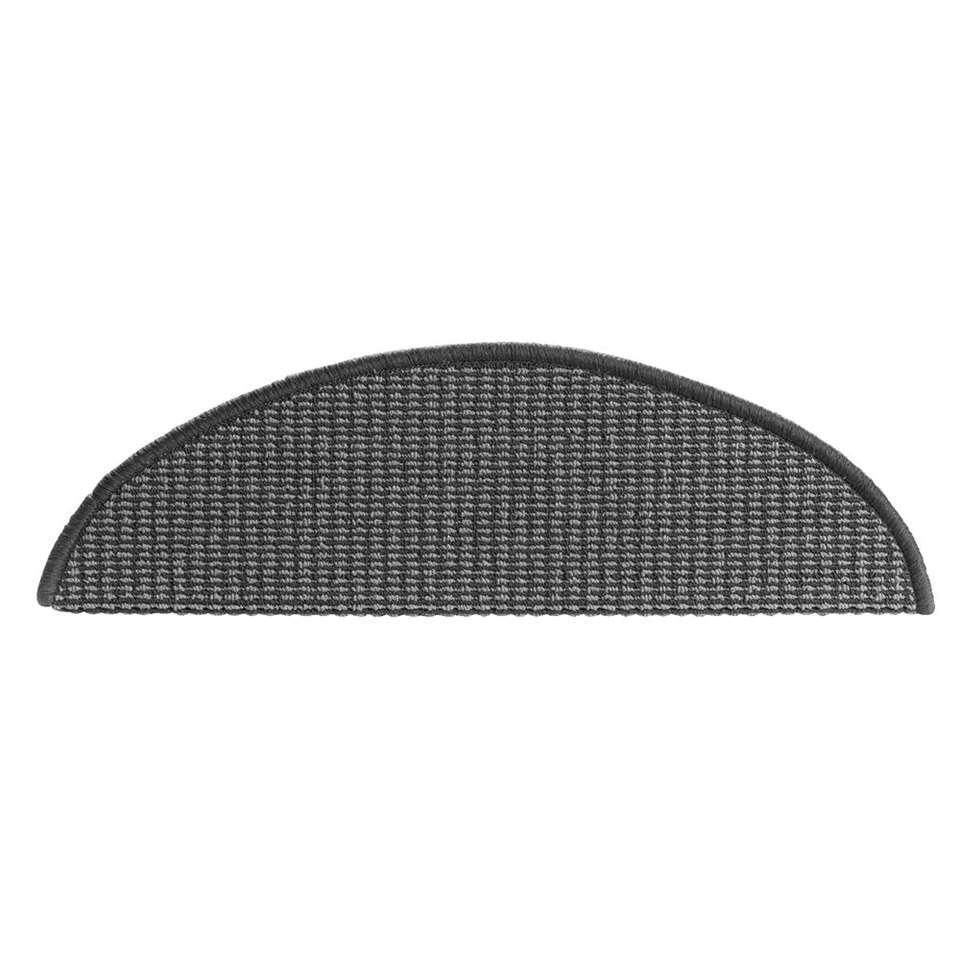 Trapmat Tweed-step - antraciet (16 stuks) - Leen Bakker