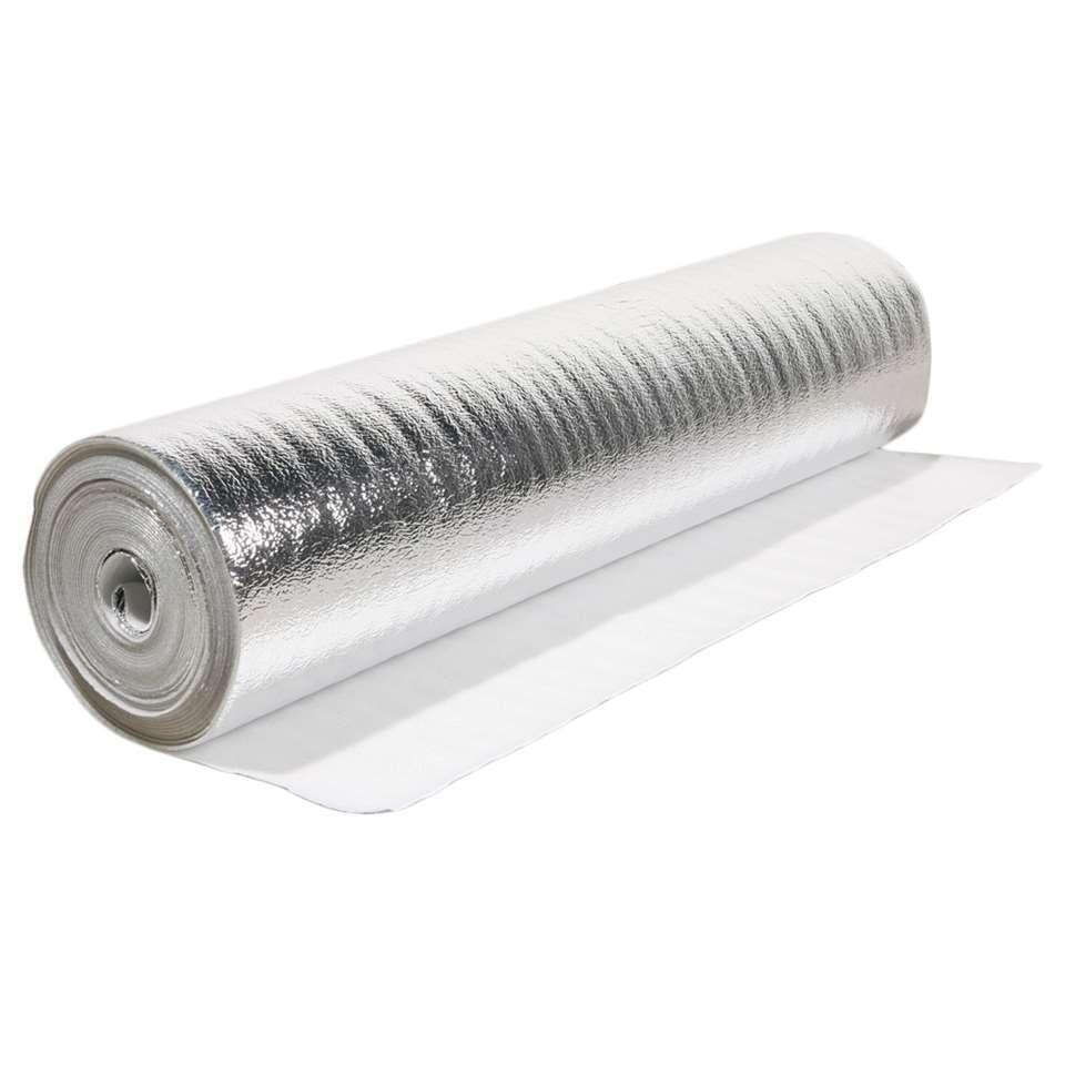Ondervloer Aluplus is geschikt voor laminaat en parket. Het materiaal werkt isolerend, egaliseert je vloer en werkt bovendien vochtwerend.