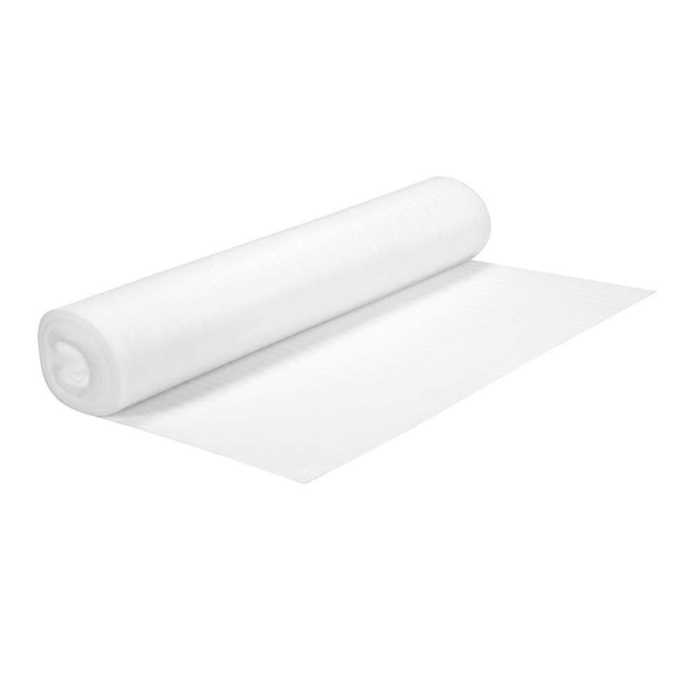 Isotex is geschikt voor laminaat, parket, beton en op vloerverwarming. De ondervloer egaliseert en isoleert warmte en geluid. De geluidsreductie is 6dB.