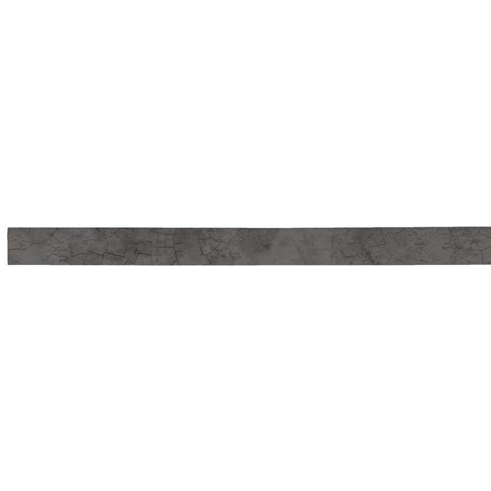 Plakplint Stone-click - antraciet - 240x2,2x0,3 cm