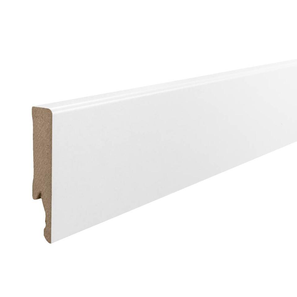 MDF plint - wit recht - 240x1,4x7,5 cm - Leen Bakker