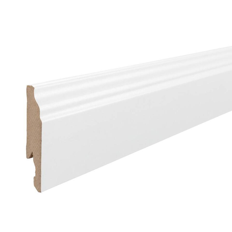 MDF plint - wit frans - 240x1,4x7,5 cm