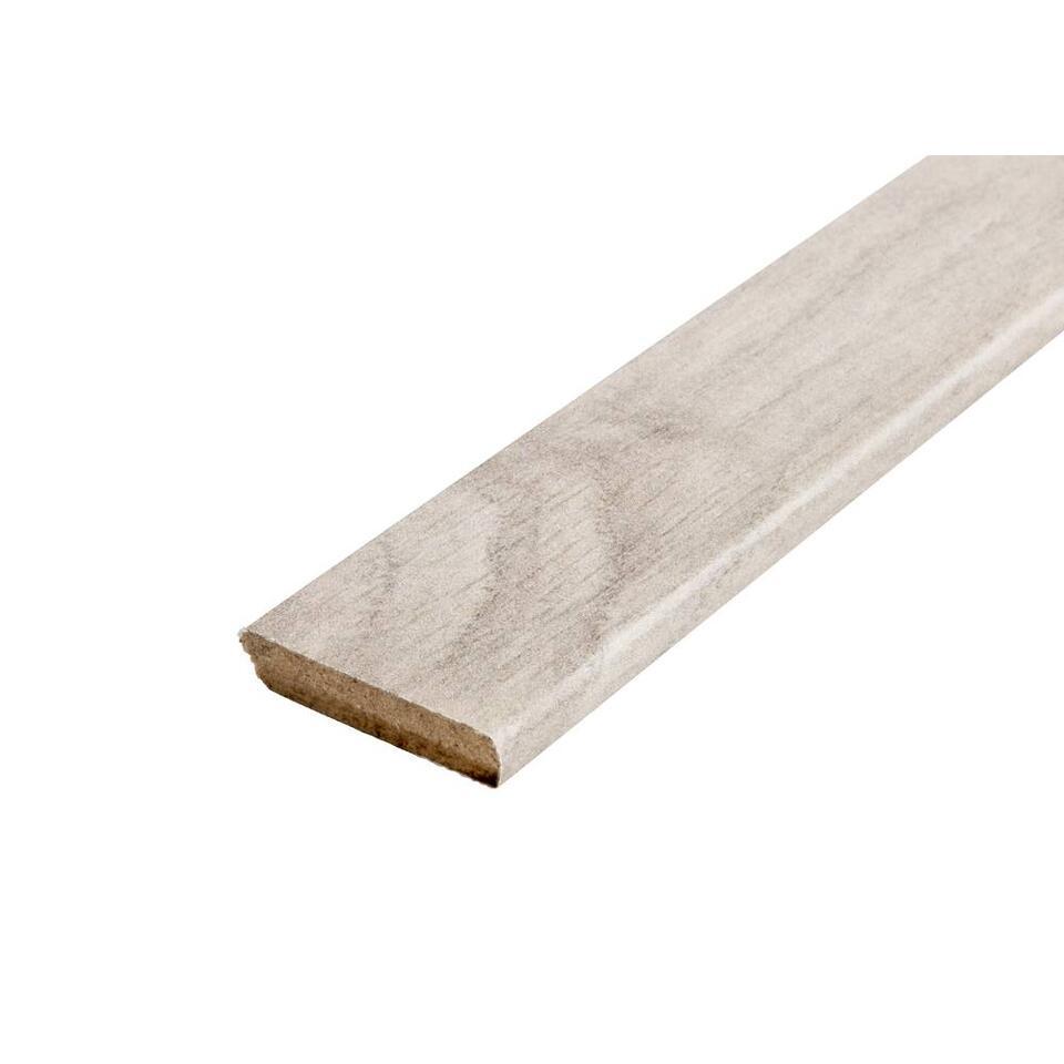 Plakplint Belfort - zilverkleur - 240x2,2x0,5 cm