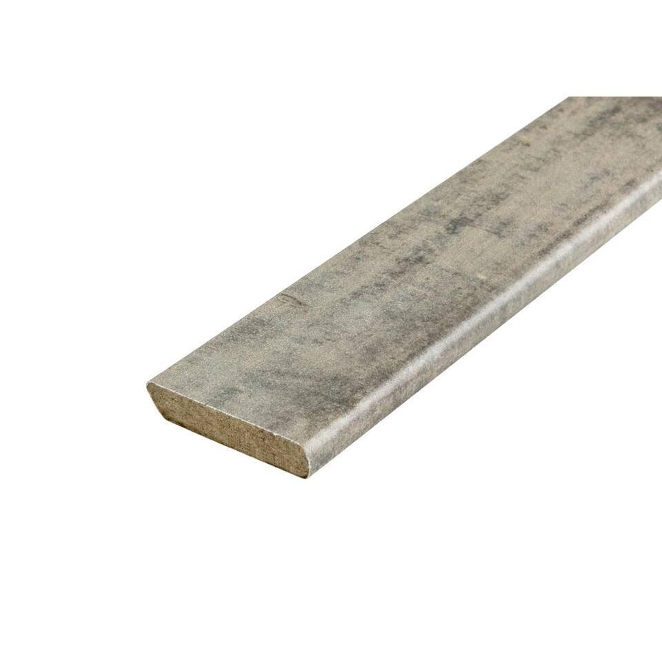 Plakplint Barnwood - bruin - 240x2,2x0,5 cm