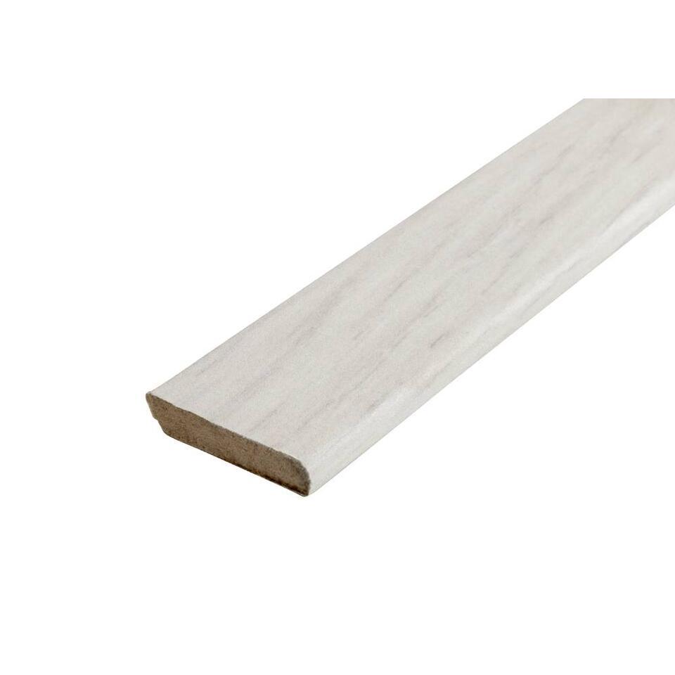 Plakplint Gossamer Oak - wit - 240x2,2x0,5 cm