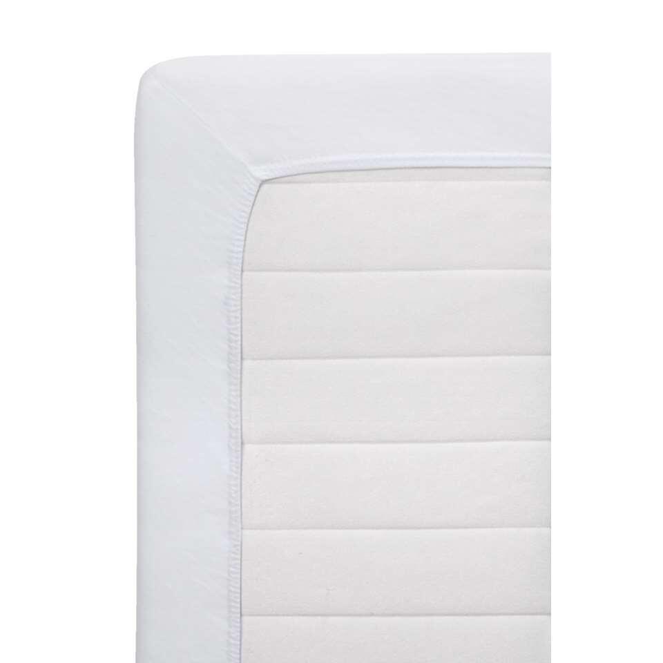 Hoeslaken Jersey Netto - wit - 160x200 cm - Leen Bakker