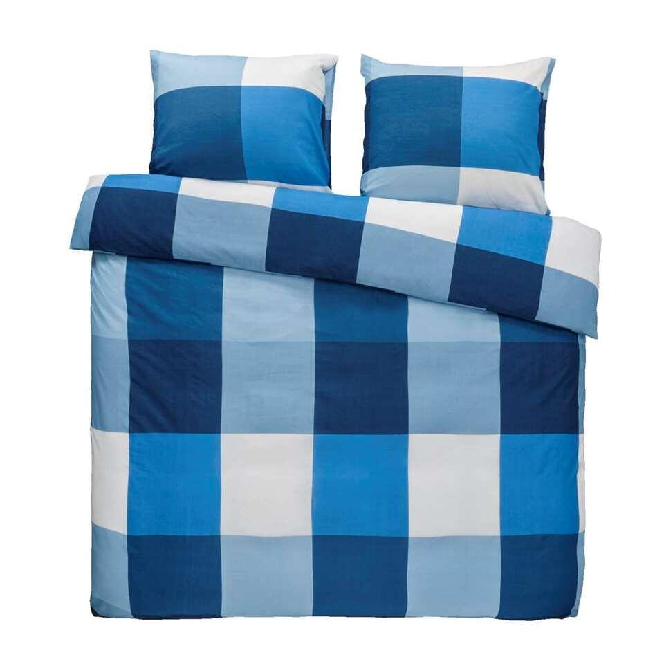 Essentials dekbedovertrek Thijs - blauw - 200x200 cm - Leen Bakker