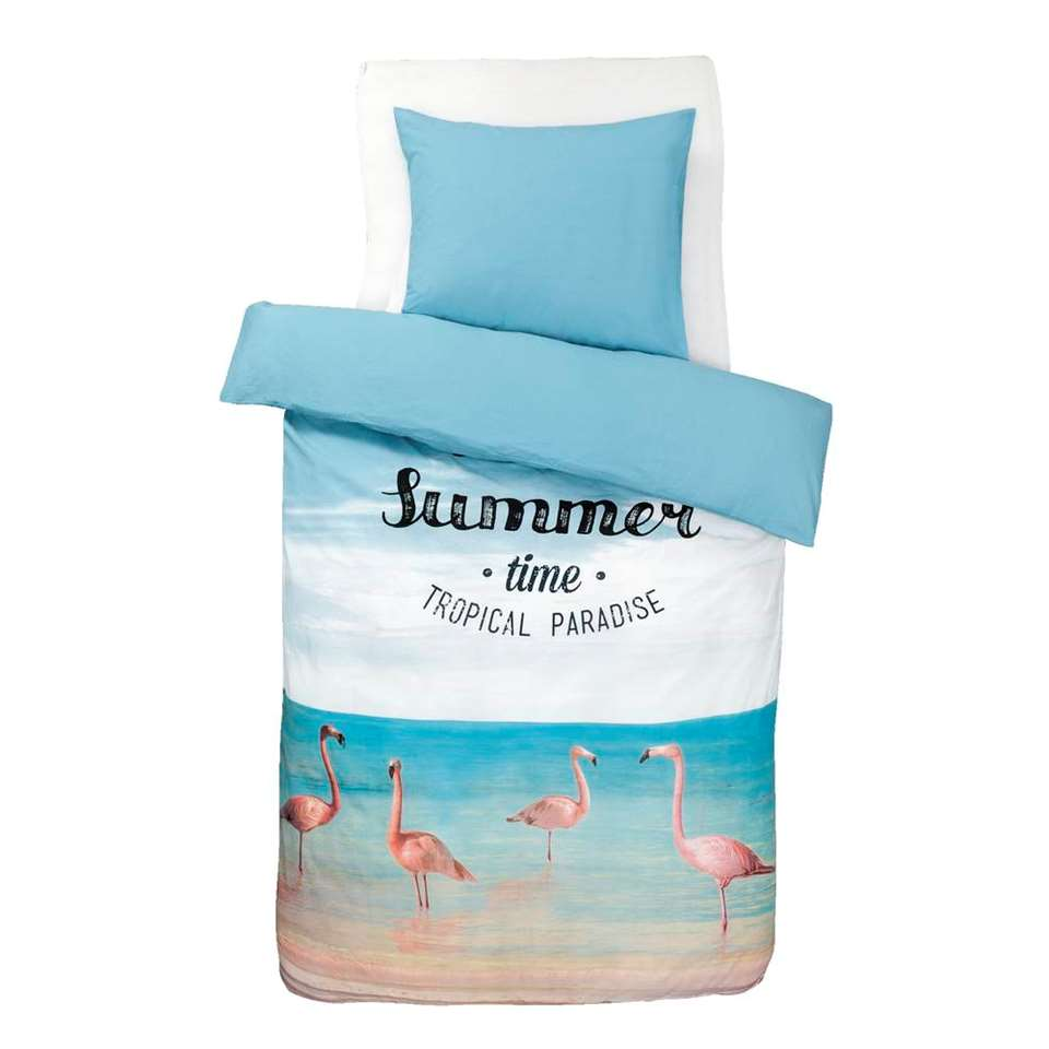 Dream dekbedovertrek Hello Summer – multikleur – 140×200 cm – Leen Bakker
